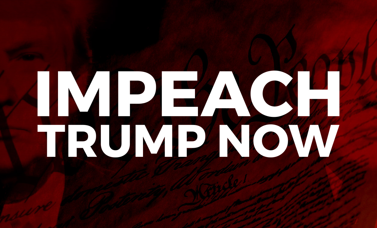 photograph regarding Printable Trump Sign titled Impeach Donald Trump Already